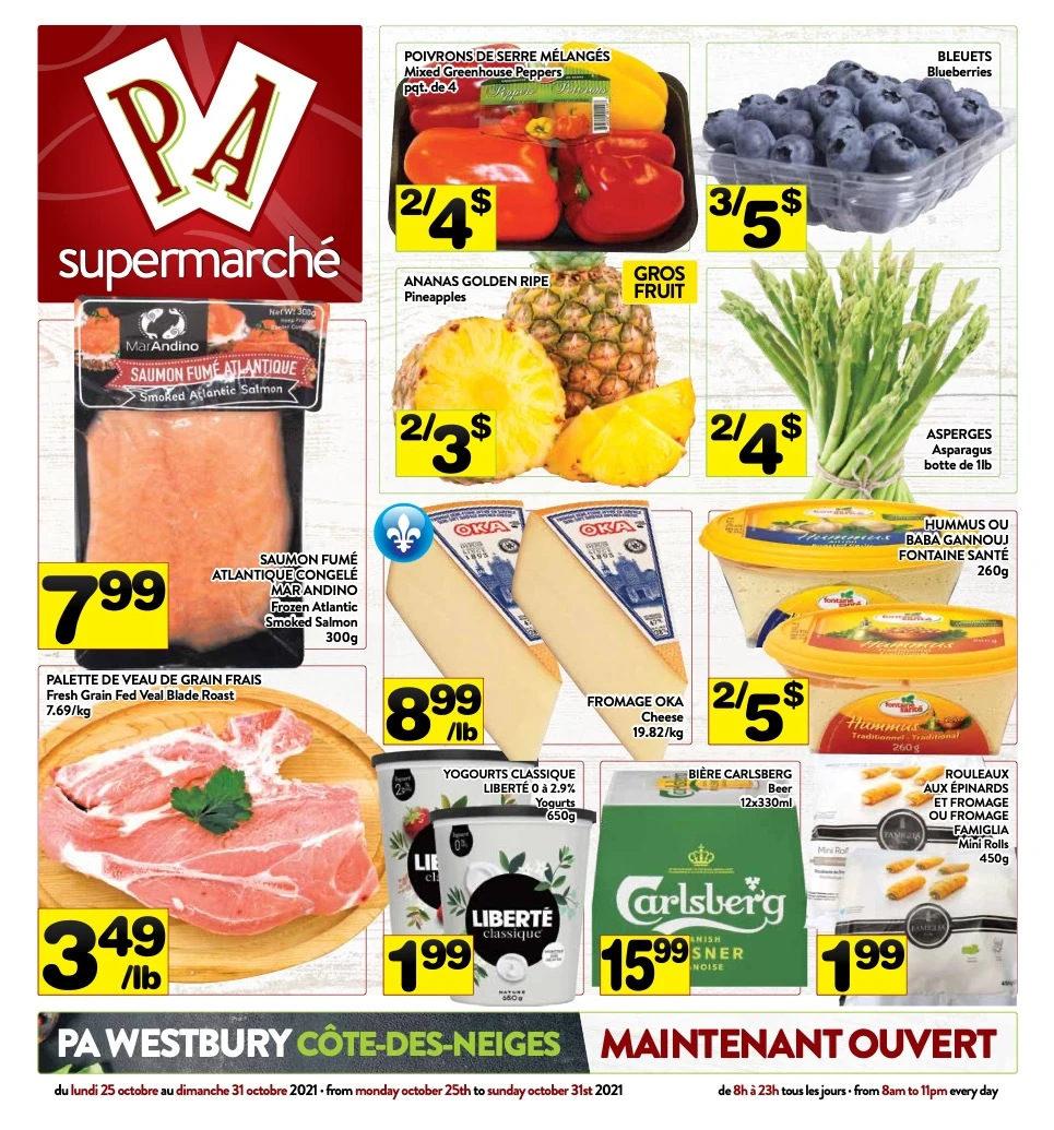 Circulaire Supermarché P.A. du 25 au 31 octobre 2021 - Page 1