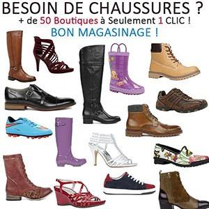 PLus de 50 boutiques de Chaussures à portée de Clic