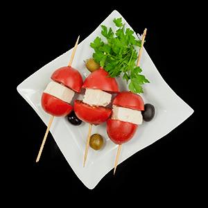 Entrée - brochettes tomates et feta