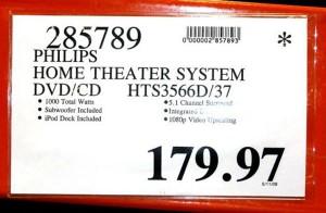 Étiquettes des spéciaux du Costco - prix discontinué