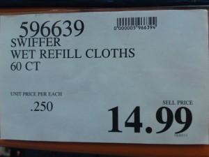 Étiquettes des spéciaux du Costco - prix régulier