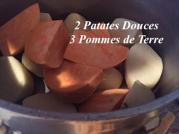 Patates douces et Pommes de terre