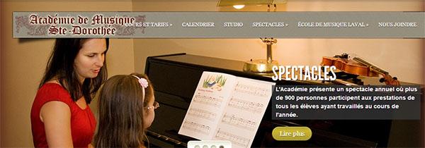 Académie de Musique Ste-Dorothée en ligne
