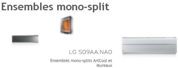 Air Climatisé Murale Mono-Splits ArtCool Muraux