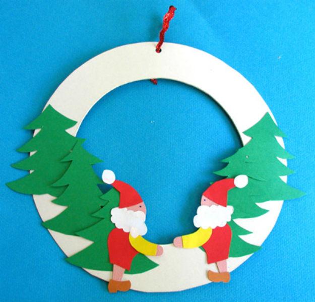 Astuce pour Fabriquer une Couronne du Père Noël
