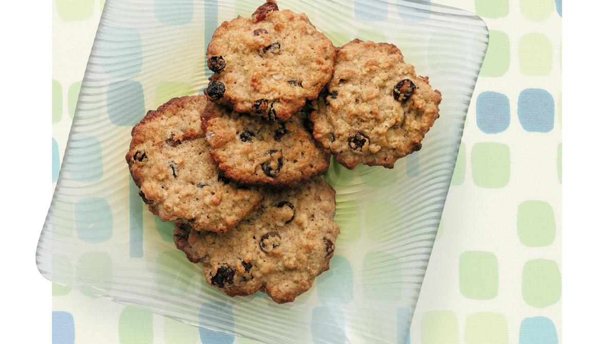Biscuits à l'avoine, au Miel et aux Raisins
