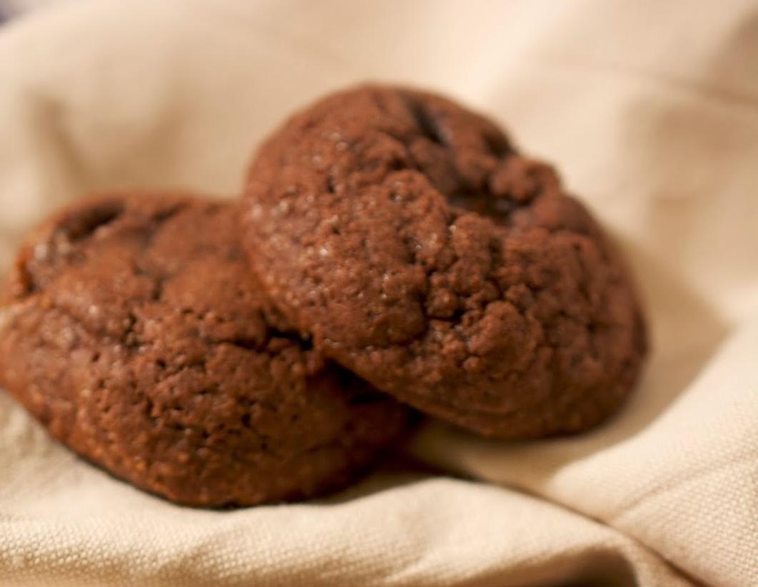 Biscuits Double Chocolat aux Morceaux de Chocolat à la Menthe