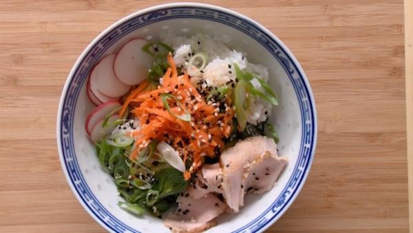 Photo Recette Bol Asiatique de Riz, Légumes et Porc