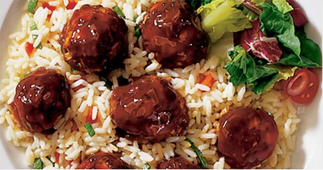 Photo Recette Boulettes de Viande à la Sauce Diana au Miel et à l'ail