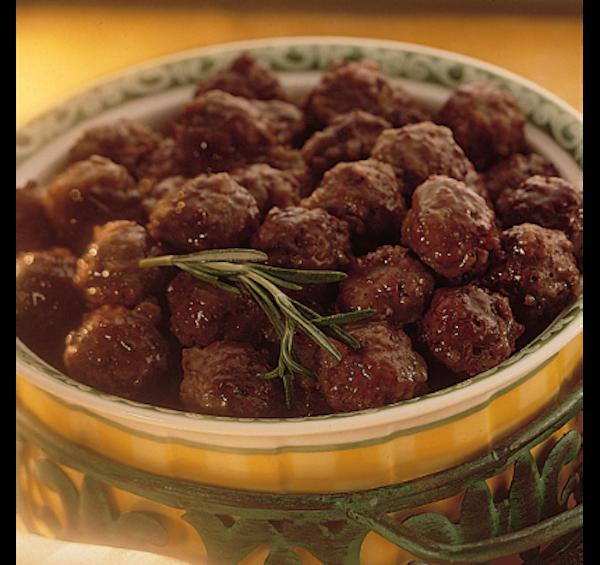 Boulettes de Viande au Vin Rouge et à L'oignon