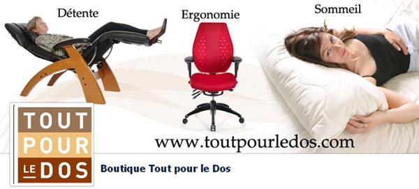 Boutique Tout pour le Dos en ligne