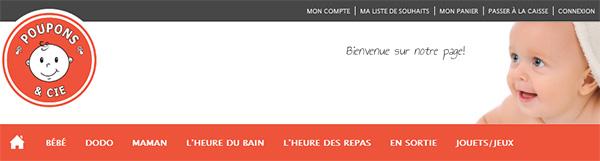 Boutique en ligne pour bébé Poupons et Cie