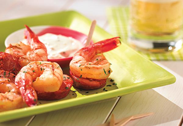 Photo Recette Brochettes de Crevettes et de Chorizo