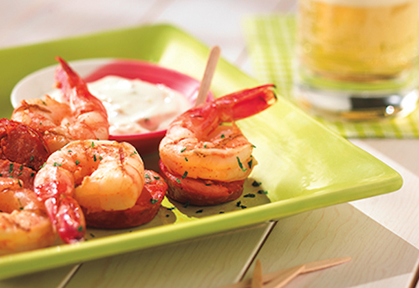 Brochettes de Crevettes et de Chorizo