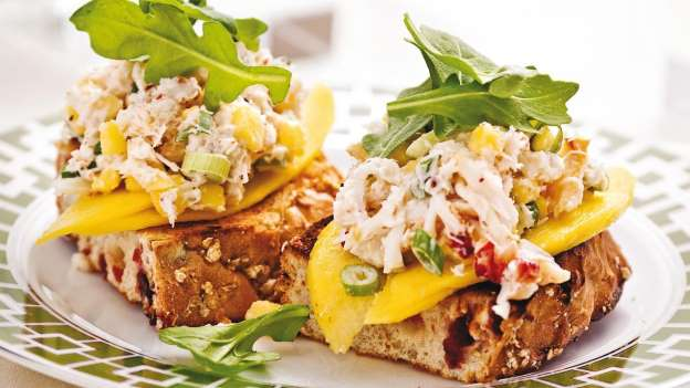 Bruschetta Crabe et Mangue