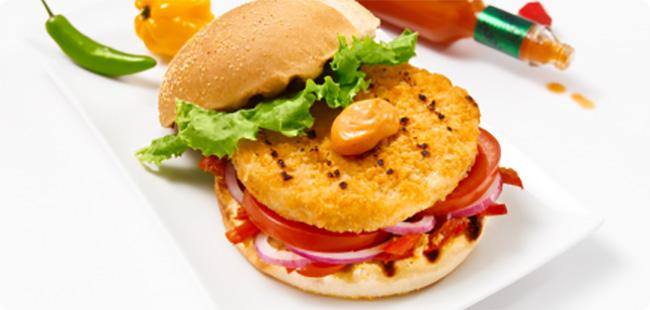 Burgers de Poulet Pané Façon Cajun