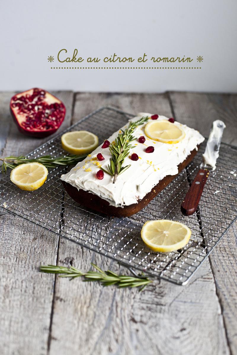 Cake au Citron et Romarin