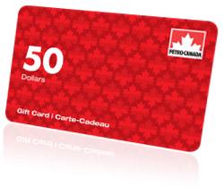 Carte Cadeau Petro Canada à gagner