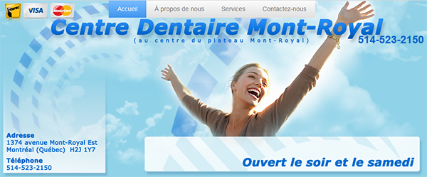 Centre Dentaire Mont-Royal en Ligne