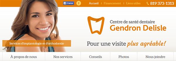 Centre de Santé Dentaire Gendron Delisle en Ligne