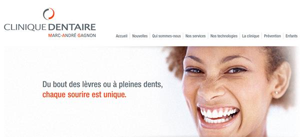 Clinique dentaire Marc-André Gagnon en Ligne