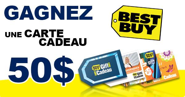 Concours Gagnez une Carte-Cadeau Best Buy 50$