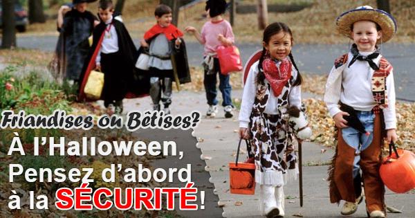 Conseils de sécurité pour l'Halloween