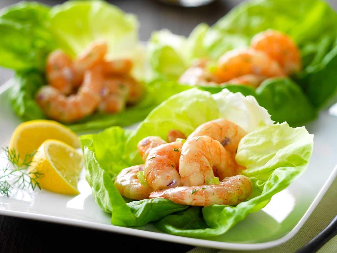 Coupe de Salade de Crevettes
