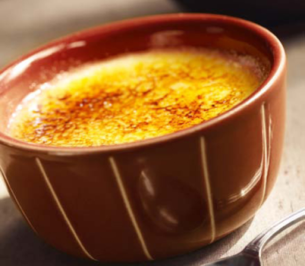 Crème Brûlée au Chocolat et à la Mangue