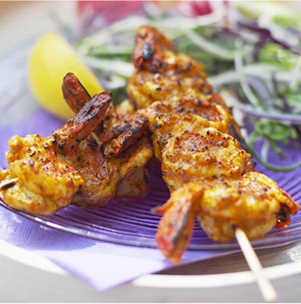 Crevettes au Barbecue
