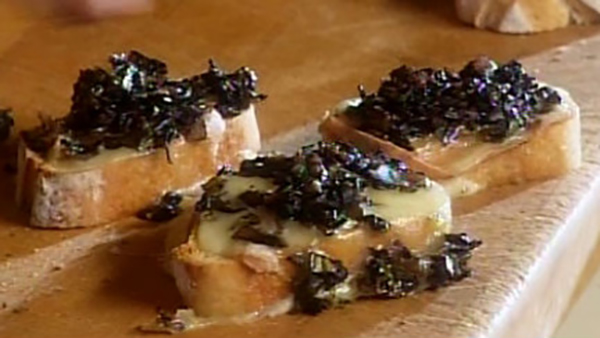 Croûtons de Pain aux Champignons et au Fromage