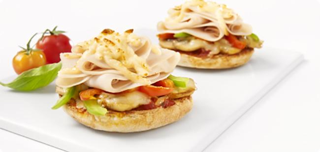 Croque Pizza à l'italienne à l'émincé de Poulet