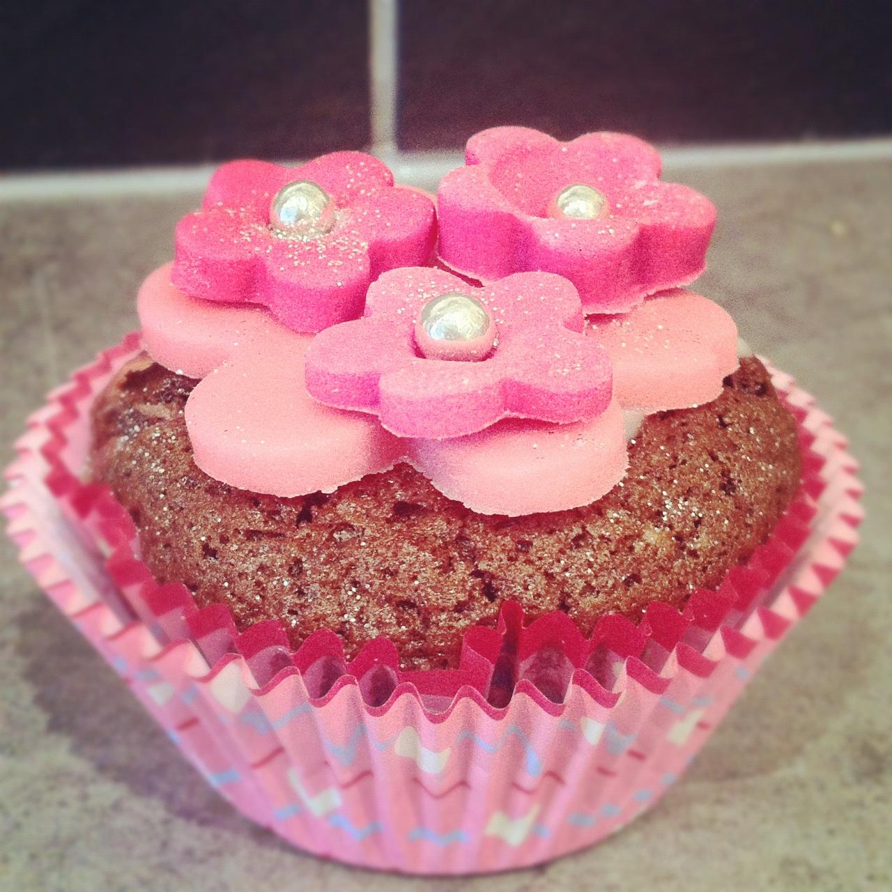 Photo Recette Cupcakes Chocolat au Cœur Coulant Framboise