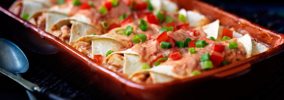 Photo Recette Enchiladas au Poulet et au Fromage