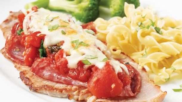 Escalopes de veau au salami de Gênes