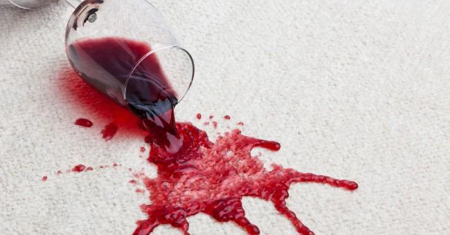 Enlever une Tache de Vin Rouge