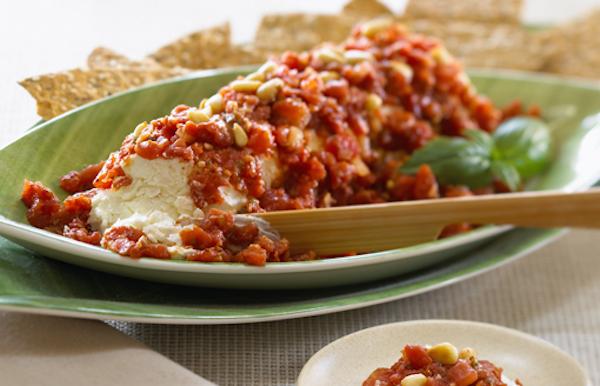 Photo Recette Fromage de Chèvre Mariné dans des Tomates Épicées