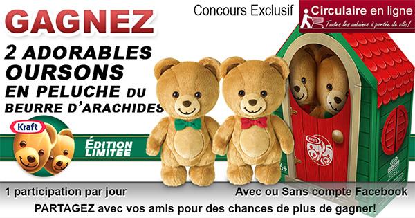 Gagnez le Coffret de 2 oursons Kraft en peluche édition limitée
