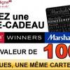 Concours: Gagnez une Carte-Cadeau Winners de 100$