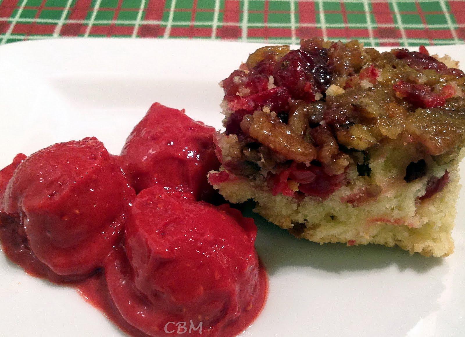 Gâteau Croustifondant aux Canneberges
