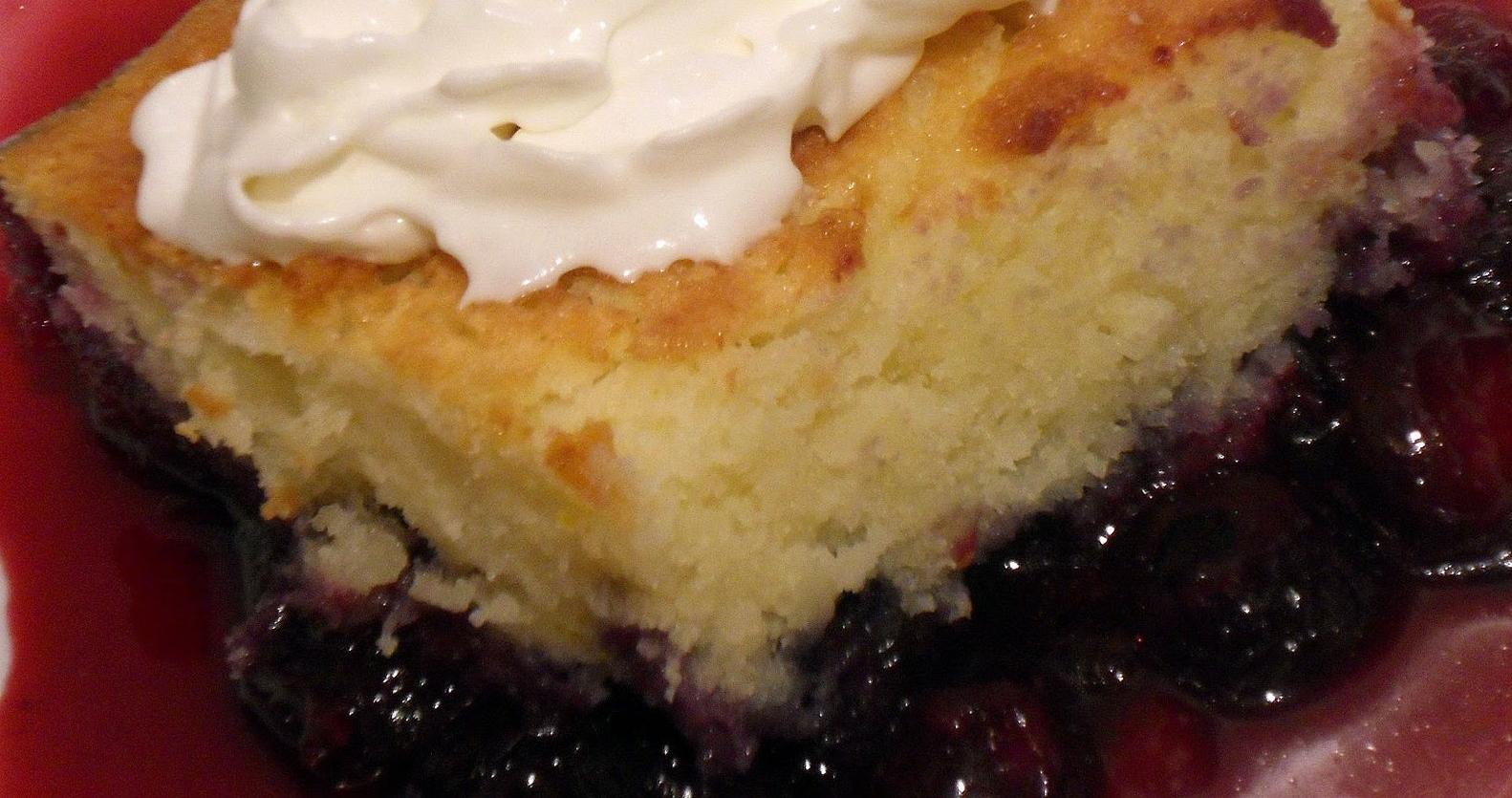 Gâteau-Pouding aux Bleuets