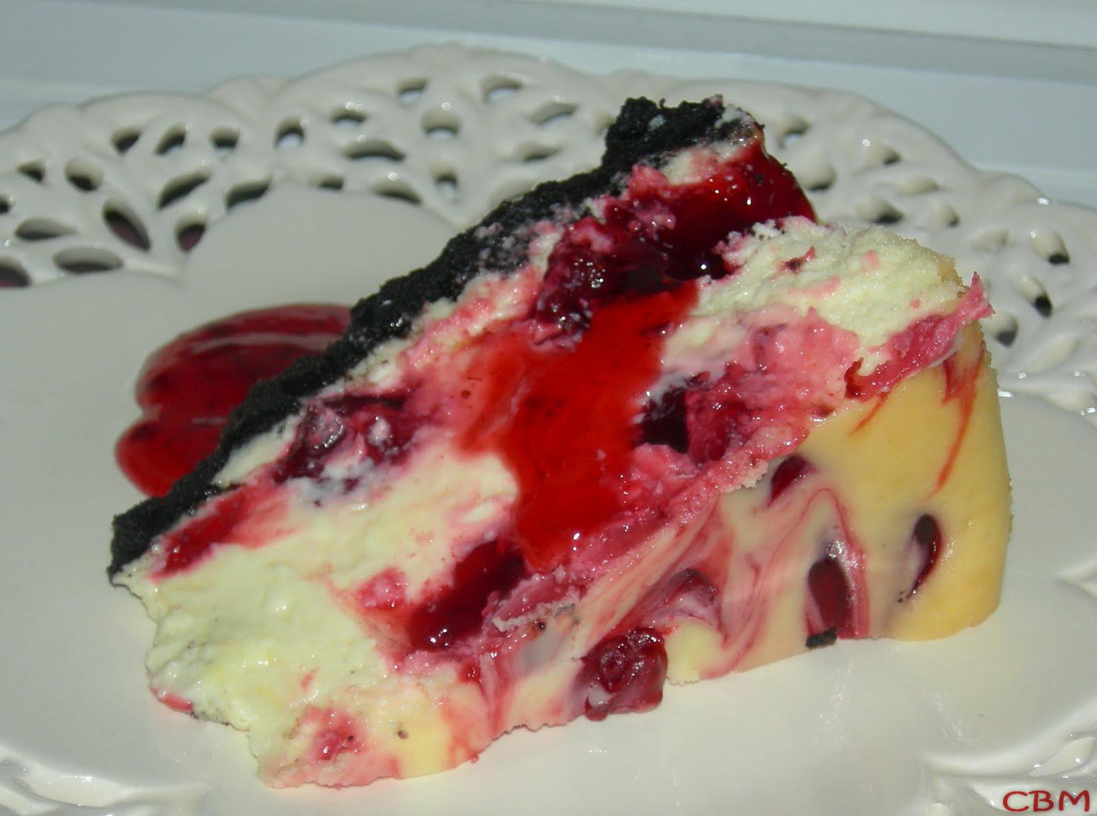 Gâteau au Fromage et aux Spirales de Fraises