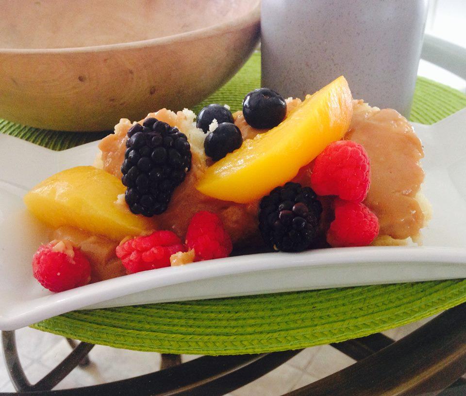 Photo Recette Gâteau Vanille Caramel et Fruits