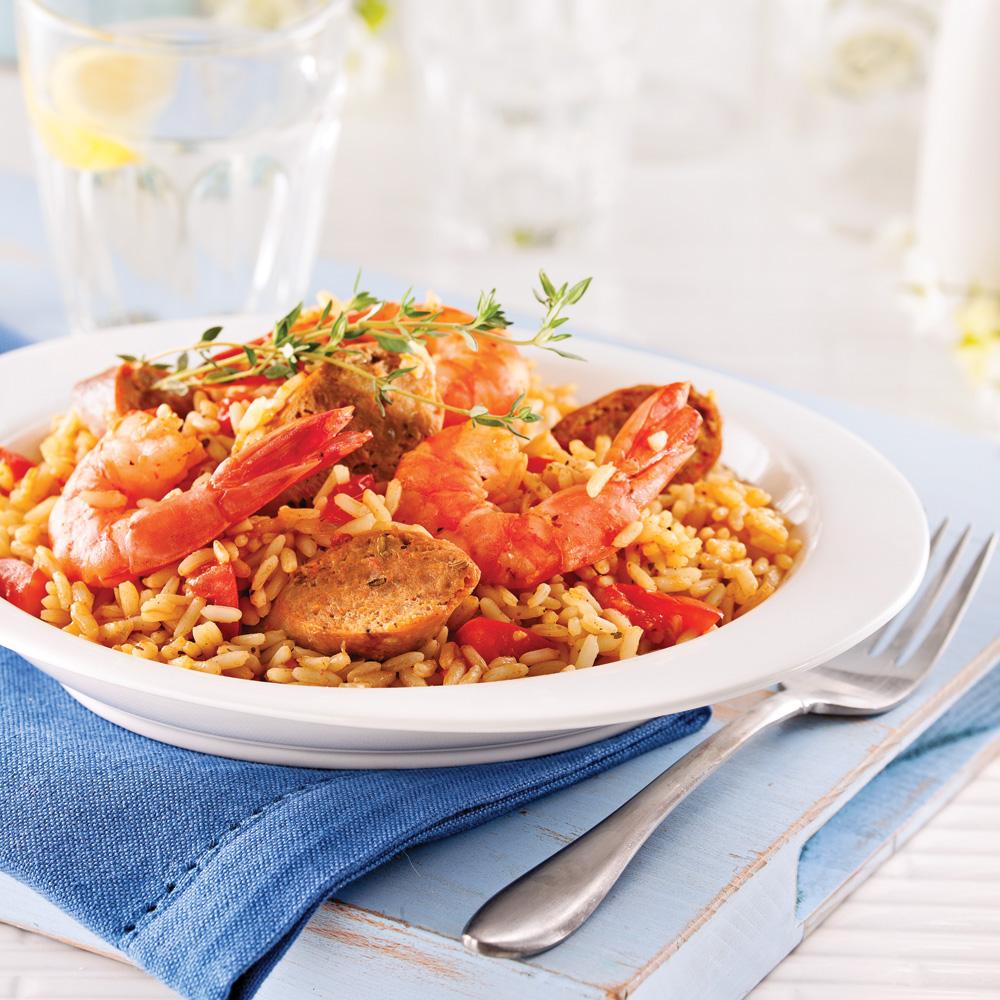 Photo Recette Jambalaya aux Saucisses et Crevettes