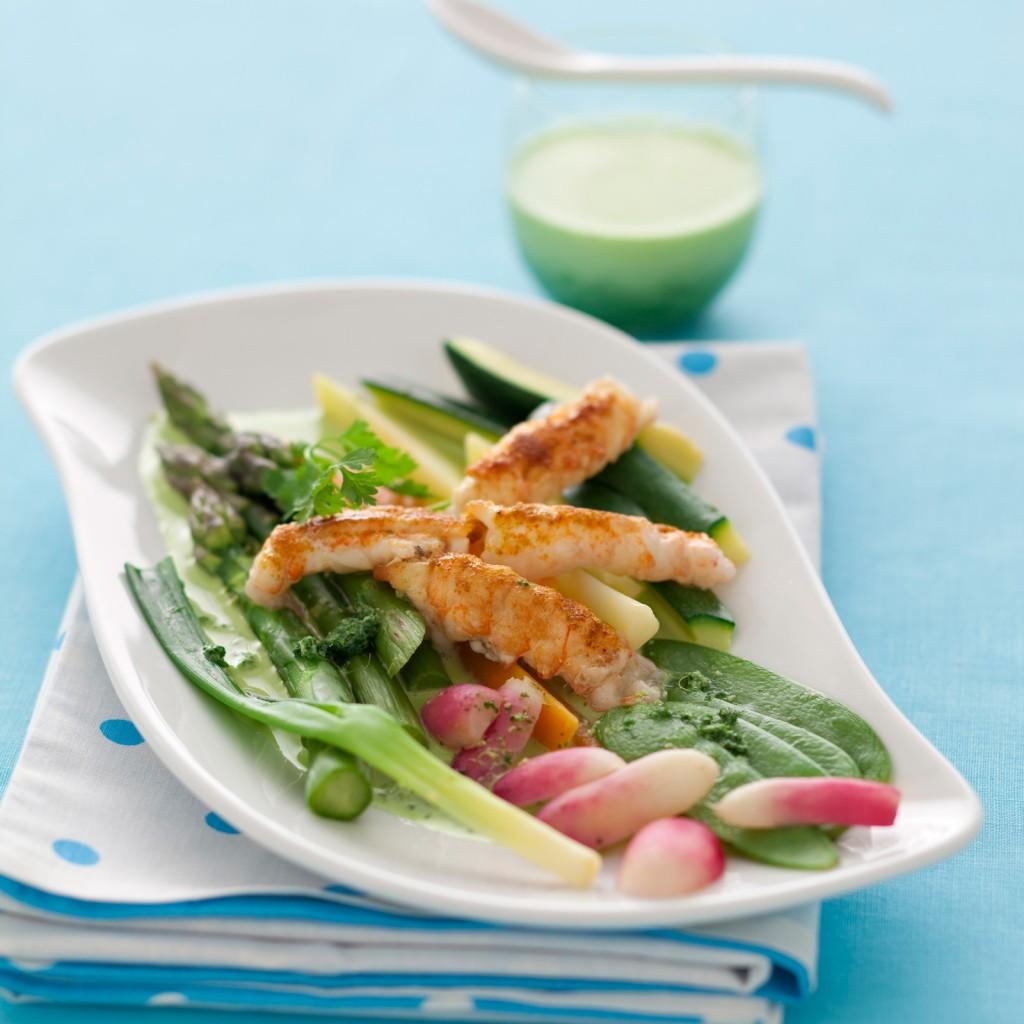 Méli-Mélo de Légumes aux Langoustines
