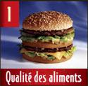 McDonald's Qualité des Aliments