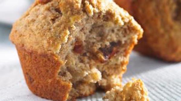 Muffins aux Bananes, Dattes et Noix de Grenoble