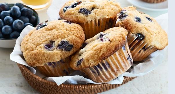 Muffins aux Bleuets et Babeurre sans Gluten