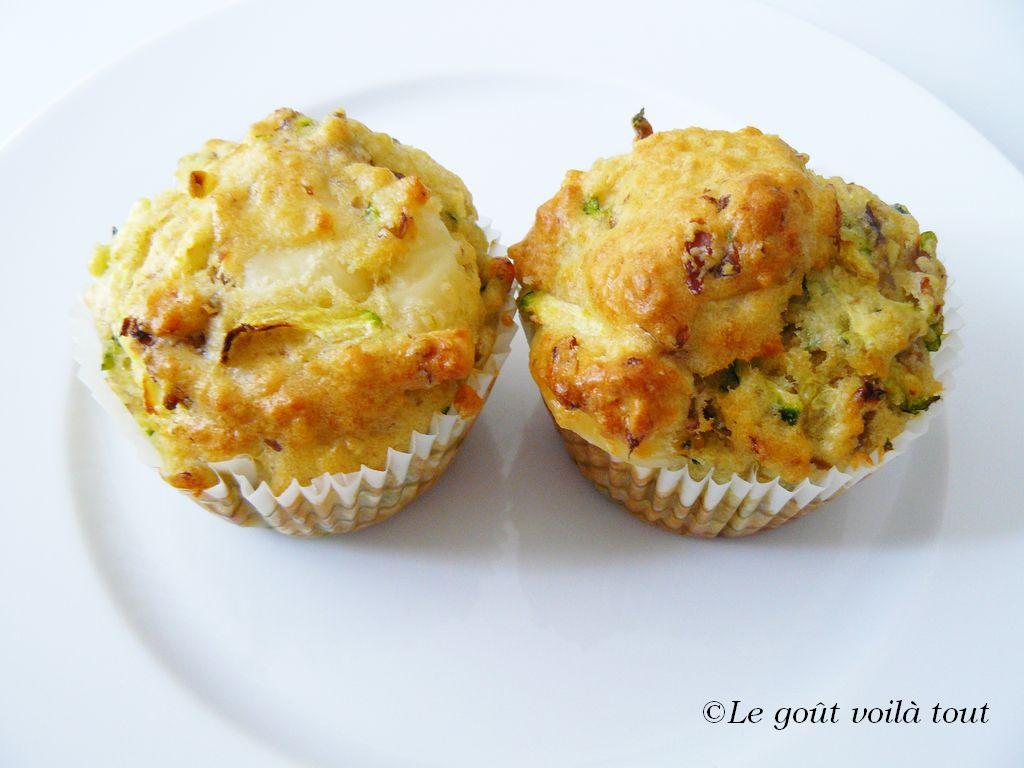 Muffins aux Champignons et Courgettes
