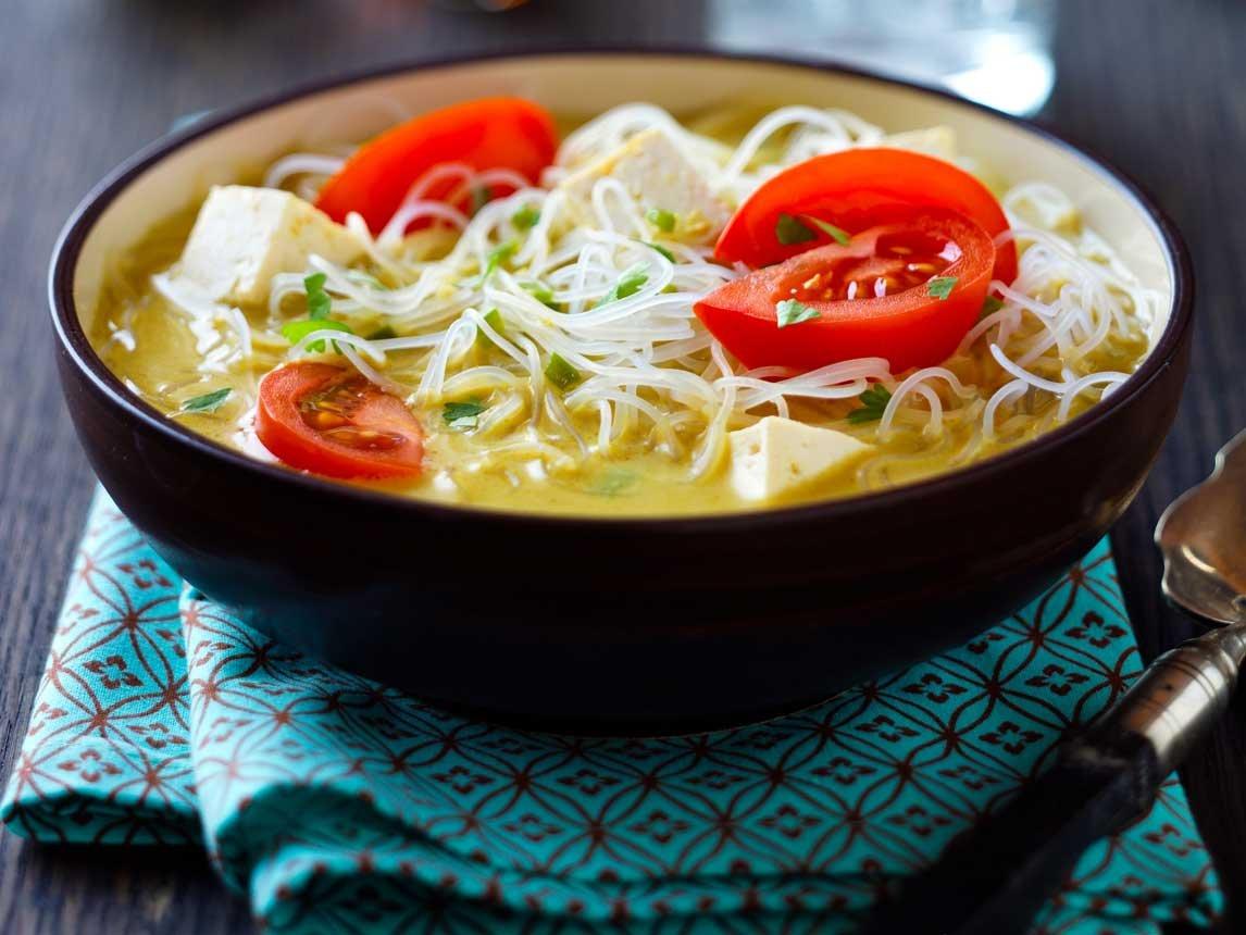 Photo Recette Nouilles au Curry et à la Noix de Coco